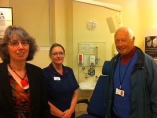 Left to right: Councillor Frances Haigh; Judy Dronfield, Clinical Lead, Minor Injuries Unit; Councillor David Skipp