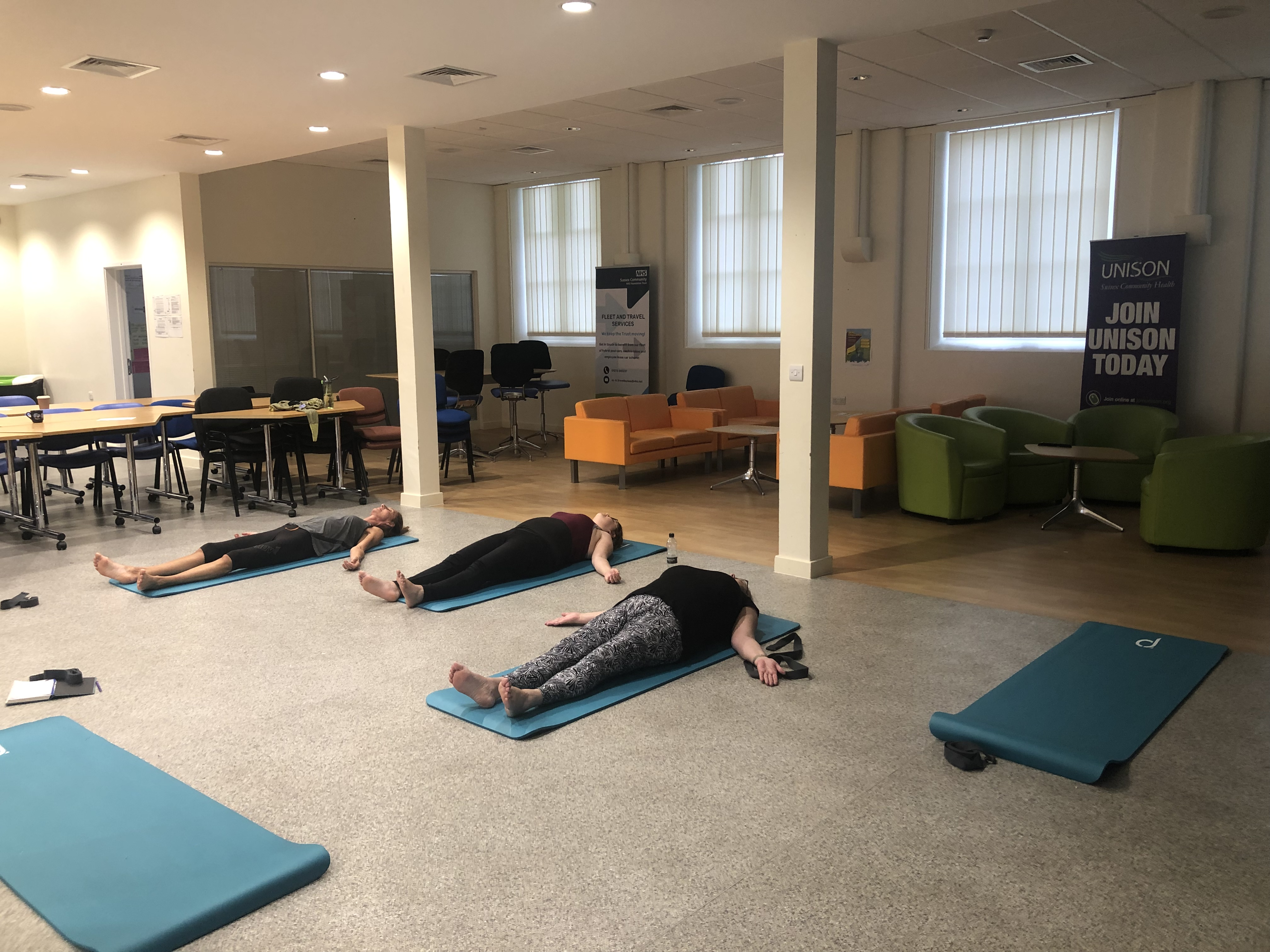 Yoga class at Brighton General Hospital
